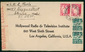 Mayfairstamps South Africa 1940s Glencoe Natal to Los Angeles Censored WWII Cove