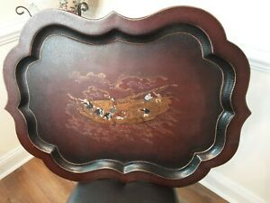 Maitland Smith, ORIENTAL Lacquerd, Hand Painted Tray Top For Coffee Table