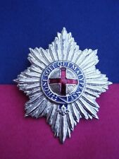 COLDSTREAM GUARDS British Army SNCO Silver Metal Military Pith Helmet/Cap Badge