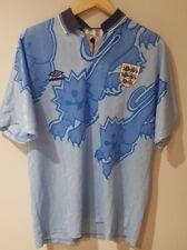 England football Blue Third Shirt Original Retro Rare 1990 90 1992 92 1993 L XL