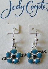 Jody Coyote Earrings JC0912 flower Meadow MW-0811-09 Austrian crystal turquoise