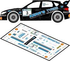 DECALS 1/43 SUBARU IMPREZA WRC - #3 - McGARRITY - RALLYE GALWAY 2012 - D43158