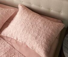 ONE Fieldcrest Rose Hue Linen Quilted Pillow Sham STANDARD / QUEEN  NEW