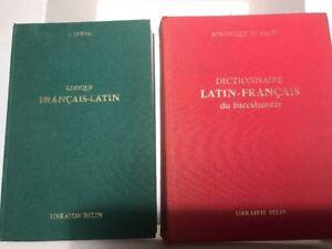 Trénel Lexique Français Latin. Bornecque Latin Français, Belin Dictionnaires