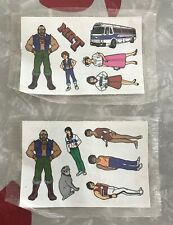 1983 Ruby Spears Enterprises Mr. T Cereal Box Stickers 2 Sheets Sealed NEW