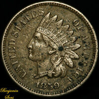 1859 Indian Head Penny 1c 081120-05E Free Shipping! AU Details