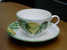Poole Pottery Hand Painted Calabash Large Breakfast Cup & Saucer In V.G.C.