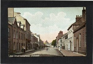 DONAGHADEE - High Street, Down, N.Ireland.  Publ:- Lawrence. p/u 1909.