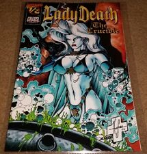 "VINTAGE CHAOS COMIC'S 1996 ""LADY DEATH"" THE CRUCIBLE WIZARD 1/2 W/COA*"
