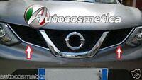set 2 pezzi cornici profili in abs cromo griglia anteriore Nissan Qashqai 2014