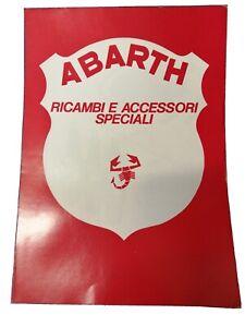 Brochure ABARTH Ricambi speciali Competizione prospekt catalogo 4 pagine Fiat