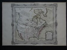 1766 Brion De La Tour  Desnos Atlas map  NORTH AMERICA - Unites States - Canada
