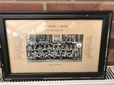 More details for vintage rugby team photo (framed) - newbury v bath 8th sept 1953 - accept. cond.