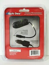 Music Gear Wireless FM Transmitter for use with MP3 Portable CD DVD iPhone iPod