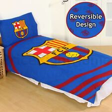 FC BARCELONA PULSE SINGLE DUVET COVER SET REVERSIBLE FOOTBALL BEDDING KIDS
