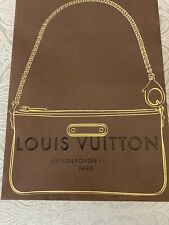 100%  Authentic Louis Vuitton Carrier Bag Limited Edition Mini Pochette Gold VGC