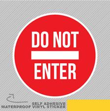 Ne pas saisir rouge signe porte Cercle Vinyle Sticker Autocollant Fenêtre Voiture Van Vélo 2220
