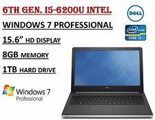 Dell Inspiron 15 5000 i5559 Laptop Intel Core i5-6200U 8GB 1TB Windows 7 Pro New