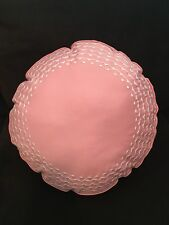 DENA HOME PALM COURT PINK ROUND ACCENT PILLOW 14""