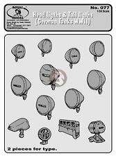 Royal Model 1/35 Headlights and Tail Lights for German Tanks & AFVs WWII 077