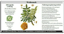 Weihrauch 300 Kapseln (Boswellia serrata) 100 % vegan, á 450 mg, 135 g
