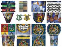 Harry Potter Childrens Wizard Hogwarts Birthday Party Decorations Plates Napkins
