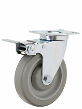 "Total Lock Swivel Plate Caster: TP 2-3/8x3-5/8. Polyurethane Wheel: 4"" x 1-1/4""."