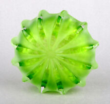 Teign Valley Glass (TVG) Green Flat Vortex Vase by Ian Hankey