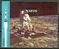 Moon Landing 20th Anniversary Mint NH Nevis Souvenir Sheet Scott #590 $4.00 Valu