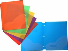 Filexec Two Pocket Folder, Three Hole Punched, Assorted Colors, 12 Pack (5012...