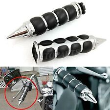 "Chrome 1"" Handlebar Hand Grips For Harley Softail Sportster Dyna Touring Cruiser"