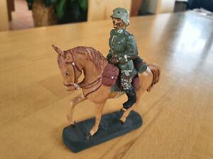 Elastolin Soldat Reiter Kavallerie Militär II WK Masse RAR