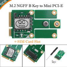 M.2 NGFF B Key to Mini PCI-E Converter Adapter Card Module+SIM Card Slot 3G 4G