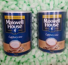 Maxwell House Instant Cappuccino 2 x750g Tins Coffee Drink Bulk Buy, LONG EXPIRY
