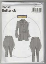 Butterick Pattern B6340 Men's Victorian Georgian Jacket Breeches Jodhpur XL-XXXL