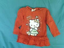 Girls 3-4 Years - Red Long Sleeve Tunic Top - Hello Kitty