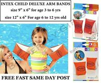 Deluxe Children Kids Swimming Arm Bands Intex age 3 to 6 and 6 to 12 yrs New