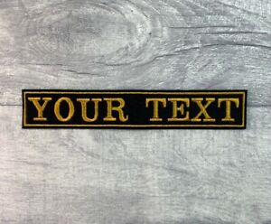 LARGE 1 LINE CUSTOM PERSONALISED BIKE PATCH CLUB TRIKE SEW ON EMBROIDERED PATCH