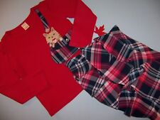 """Gymboree """"NEW YORK GIRL / PUPPY SCHOOL"""" 7..2pc TOP & SKORT...RED PLAID...OUTLET"""