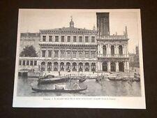Venezia Palazzo della Zecca e Gondola o Gondole