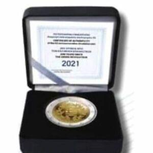 2 Euro Polierte Platte Gedenkmünze Griechenland 2021 25. März 1821