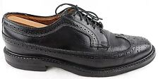 Vintage Longwing Black Wingtip Oxfords Unbranded Cats Cat's Paw Heels mens 9D