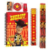 Toy Story 4 Stationary Set Pencils Eraser Sharpener small notes pad- Red