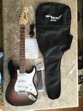 Pyle PEGKT15GS Electric Guitar Pkg-Strap/Cord&Gig Bag-Red Sunburst-New Blemished