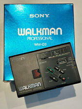 ? SONY WALKMAN -WM-D3 - STEREO CASSETTE PLAYER - PROFESSIONAL - KARTON - ZUBEHÖR