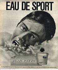 PUBLICITE ADVERTISING 055  1973  JEAN PATOU   eau de SPORT after- shave