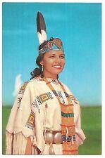 NORTH AMERICAN  Native INDIAN PRINCESS Royalty Regalia Vintage Postcard