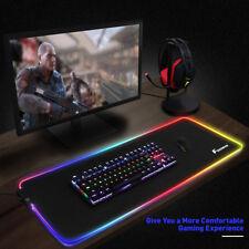LED Lighting RGB Large Gaming Mouse Pad Comfortable Playing Keypad 31.5''X11.8''