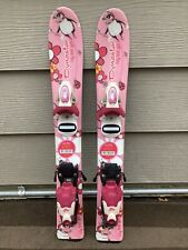 *NEW* Rossignol My First Girl 67cm Youth Skis w/ *USED* Adjustable Jr Bindings