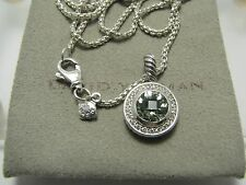 "Prasiolite Pave Diamond Pendant17""Logoboxcha in Authentic David Yurman Albion 8Mm"